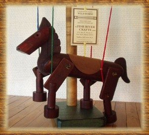 Wild Horse Marionette in Brown